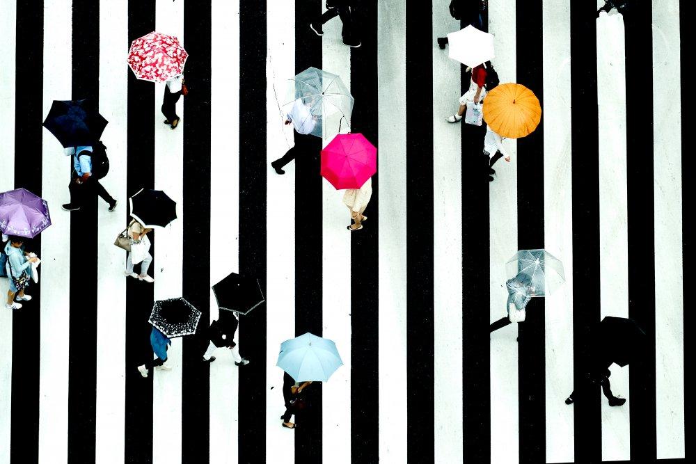 A piece of fine art art photography titled Crossing by Makoto Nishikura