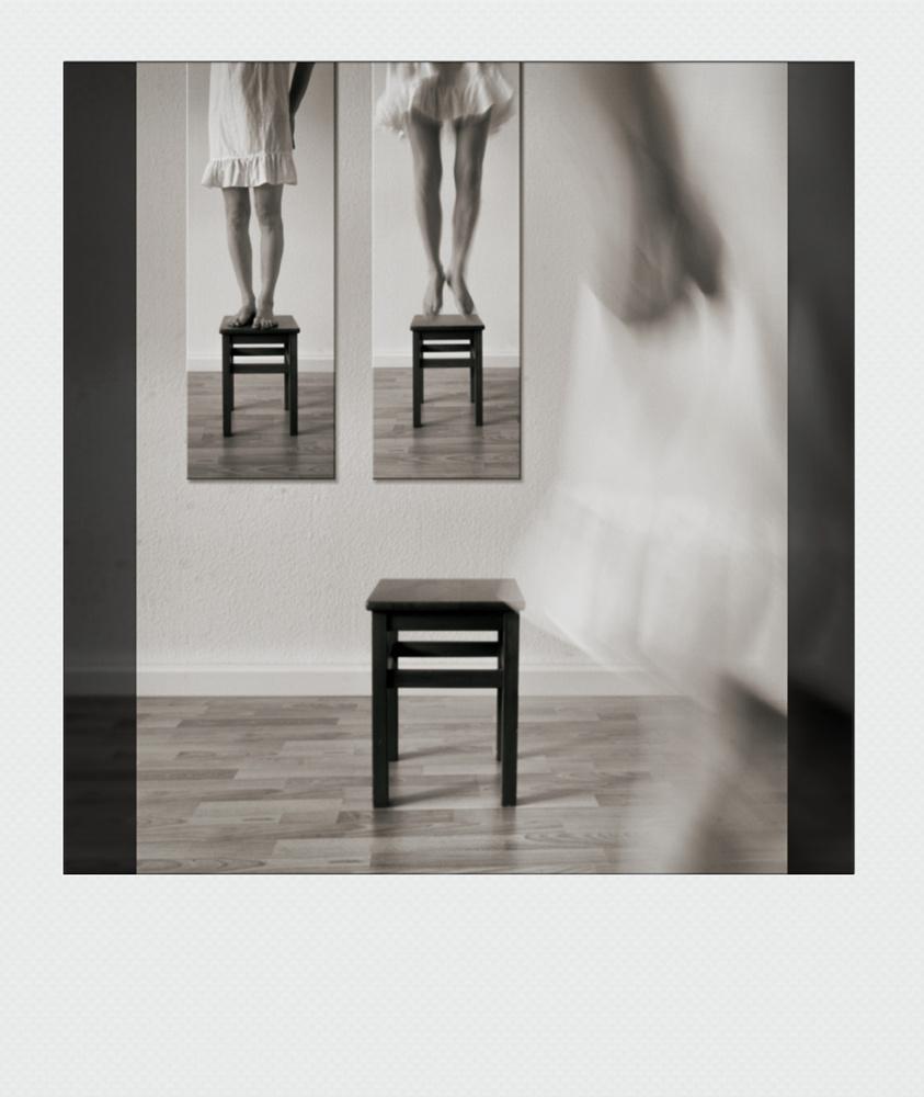 Walking away (Polaroid version)