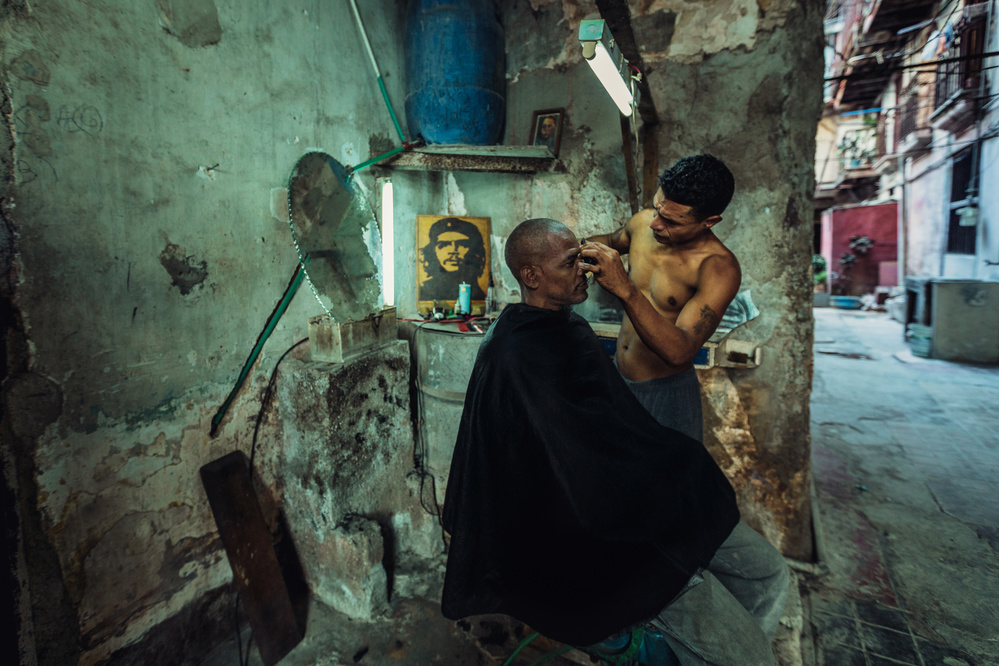 A piece of fine art art photography titled Quick Haircut by Yancho Sabev
