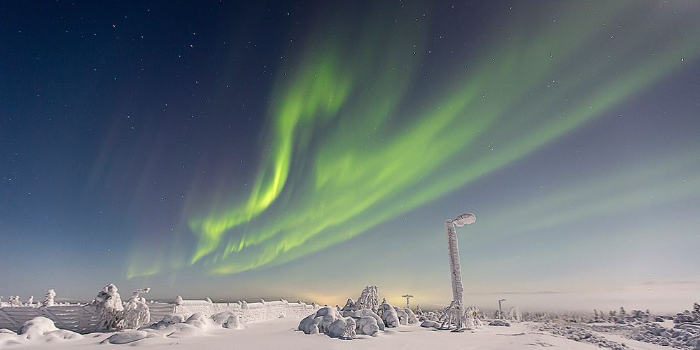 A piece of fine art art photography titled Frozen Planet by ennedi