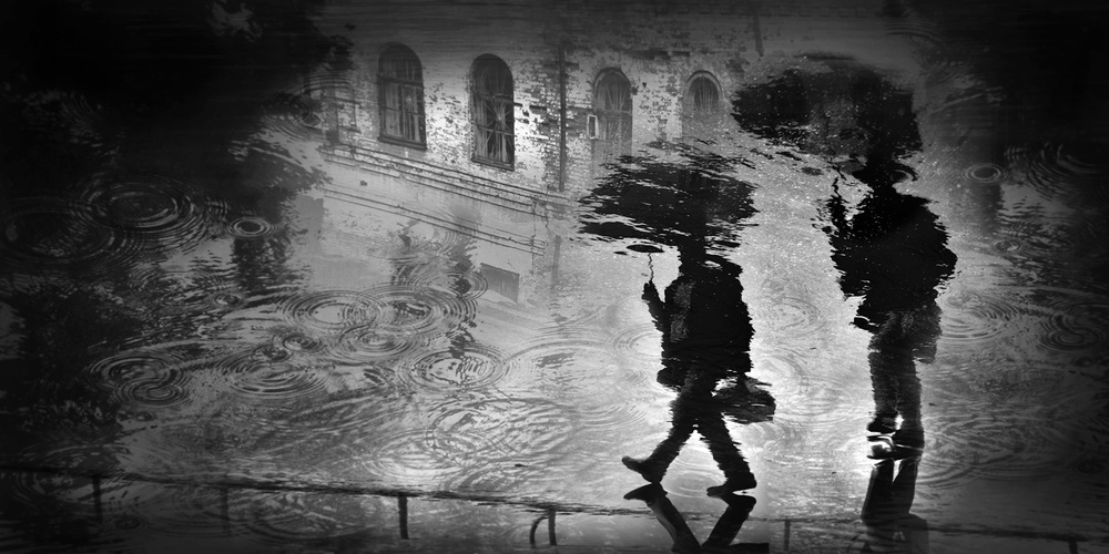 A piece of fine art art photography titled Rain In the City by Vladimir Konkin