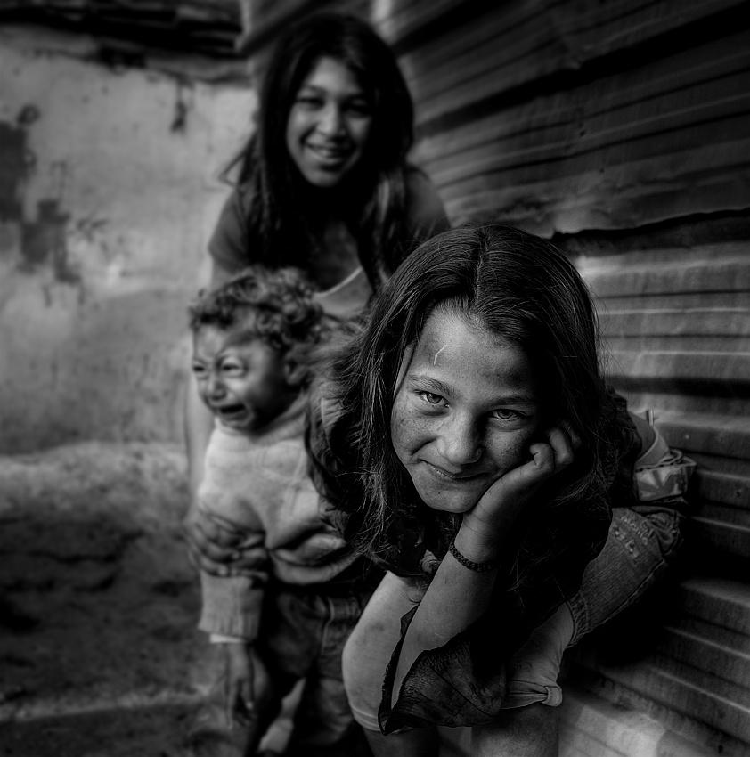 A piece of fine art art photography titled Gispy KidS by jose ferreira