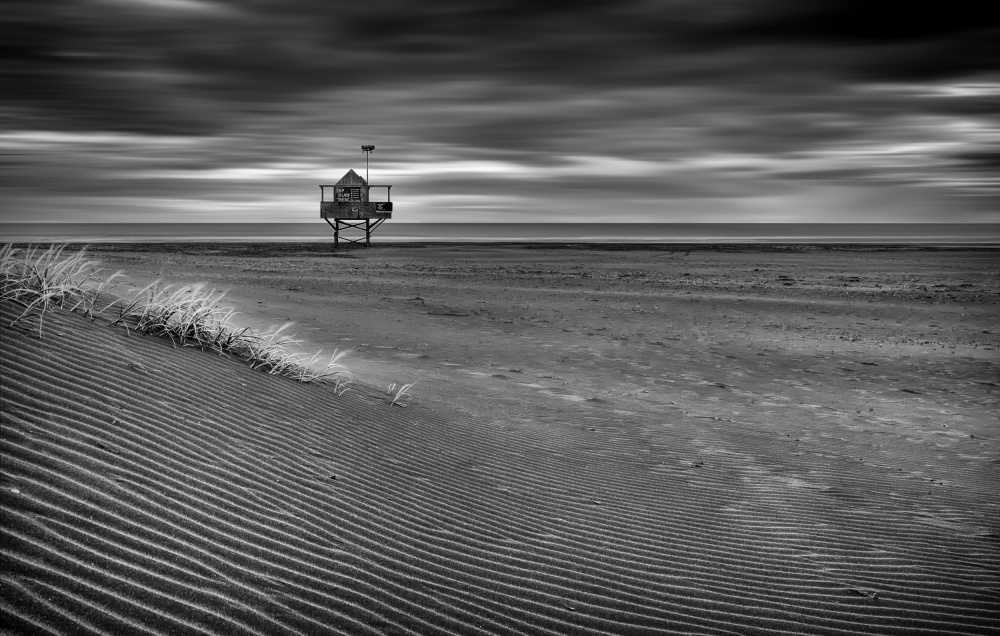 A piece of fine art art photography titled The Beach Hut by Peter Elgar