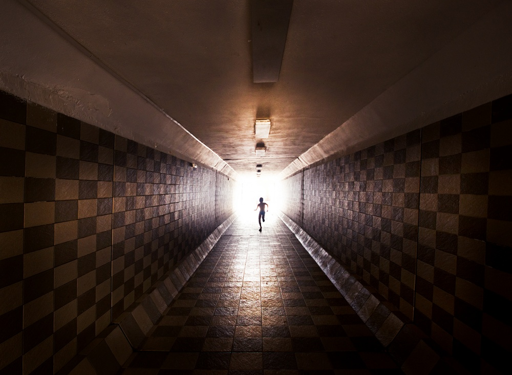 A piece of fine art art photography titled Tunel by Ivo Vuk