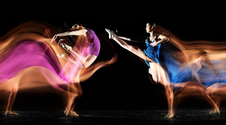 A piece of fine art art photography titled Twin Dancer by Manuel Cafini