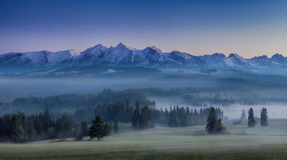 A piece of fine art art photography titled When Silence Is Sneaking Below the Mountains by Peter Svoboda, MQEP