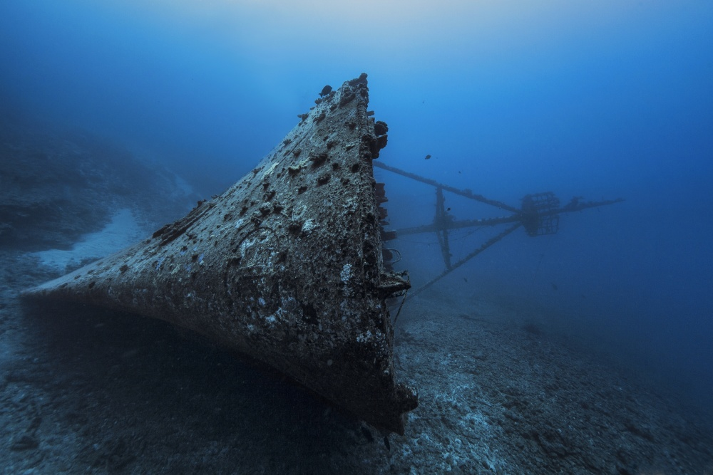 A piece of fine art art photography titled Ghost Wreck by Barathieu Gabriel