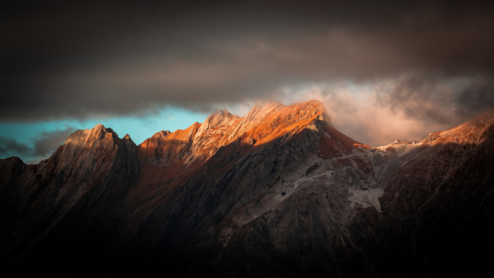 A piece of fine art art photography titled Apuan Alps by Michael Nicoli