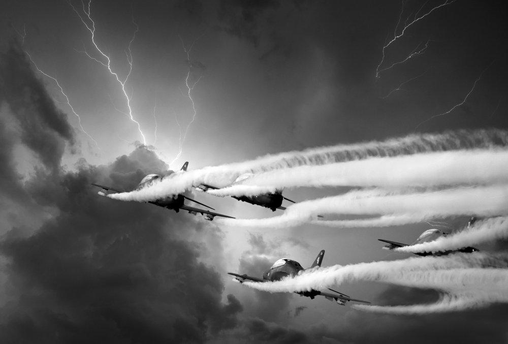A piece of fine art art photography titled Riders On the Storm by marko airismeri