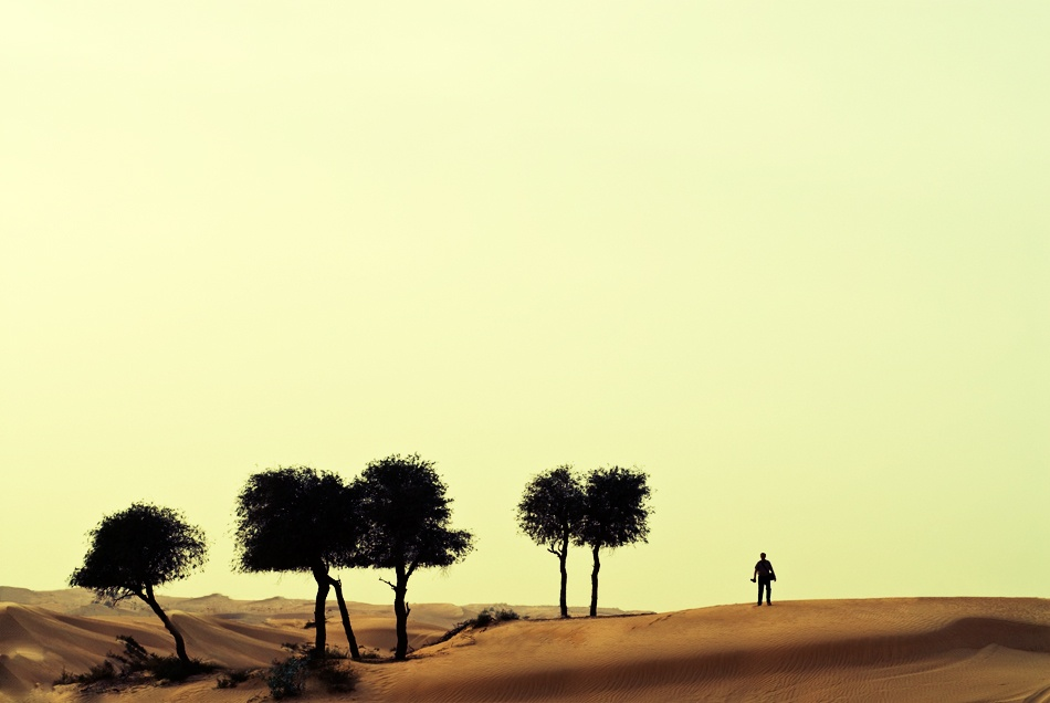 A piece of fine art art photography titled On the Dunes by David Christoffersson