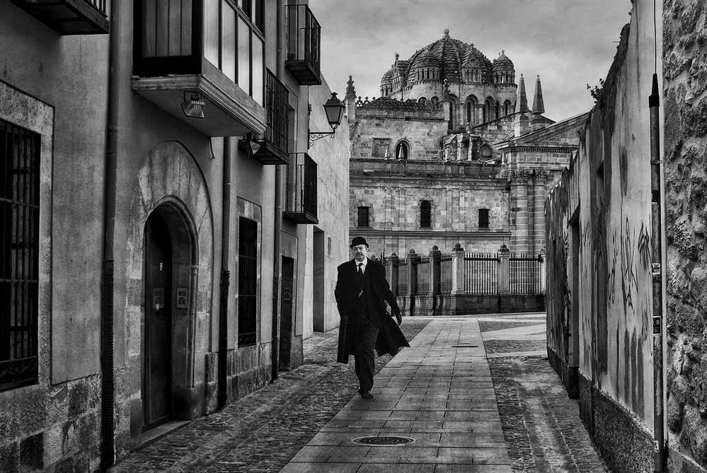 View this piece of fine art photography titled A gentleman in Zamora by Jose C. Lobato
