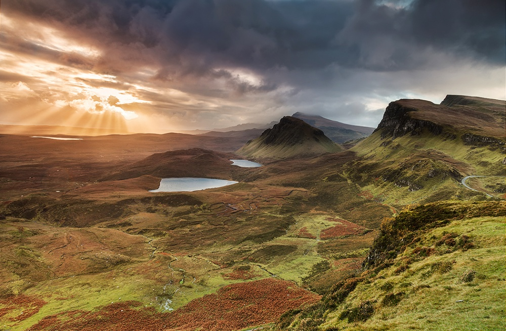 A piece of fine art art photography titled Quiraing by Antonio Carrillo Lopez