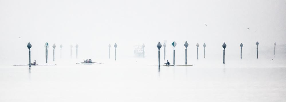 A piece of fine art art photography titled Slalom by Heinz Hieke