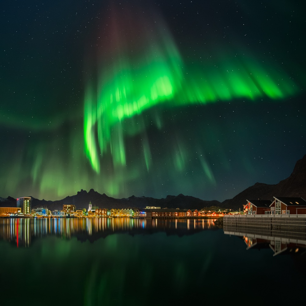A piece of fine art art photography titled 3 Am at Svolvær by Pawel Kucharski