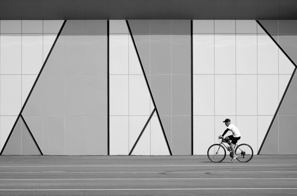 A piece of fine art art photography titled Triangles by dong hee HAN