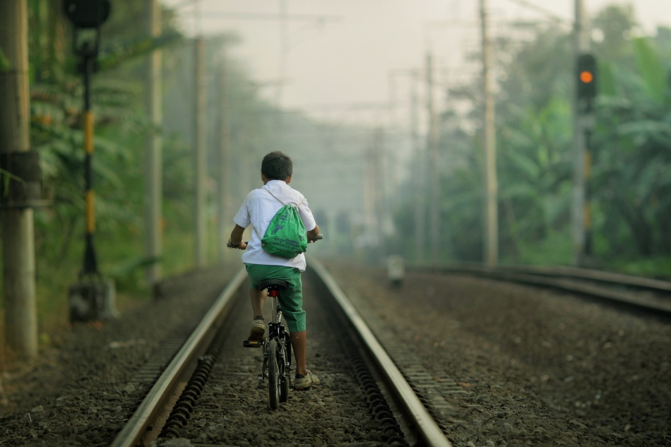 A piece of fine art art photography titled Going to School by asit