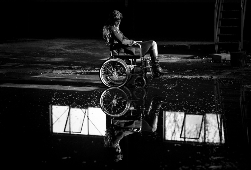 A piece of fine art art photography titled Wheelchair Dreams #1 by Claudio Allia