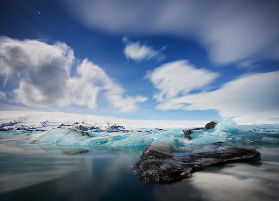 A piece of fine art art photography titled Jokursarlon Iceberg Lagoon by Alex Saberi