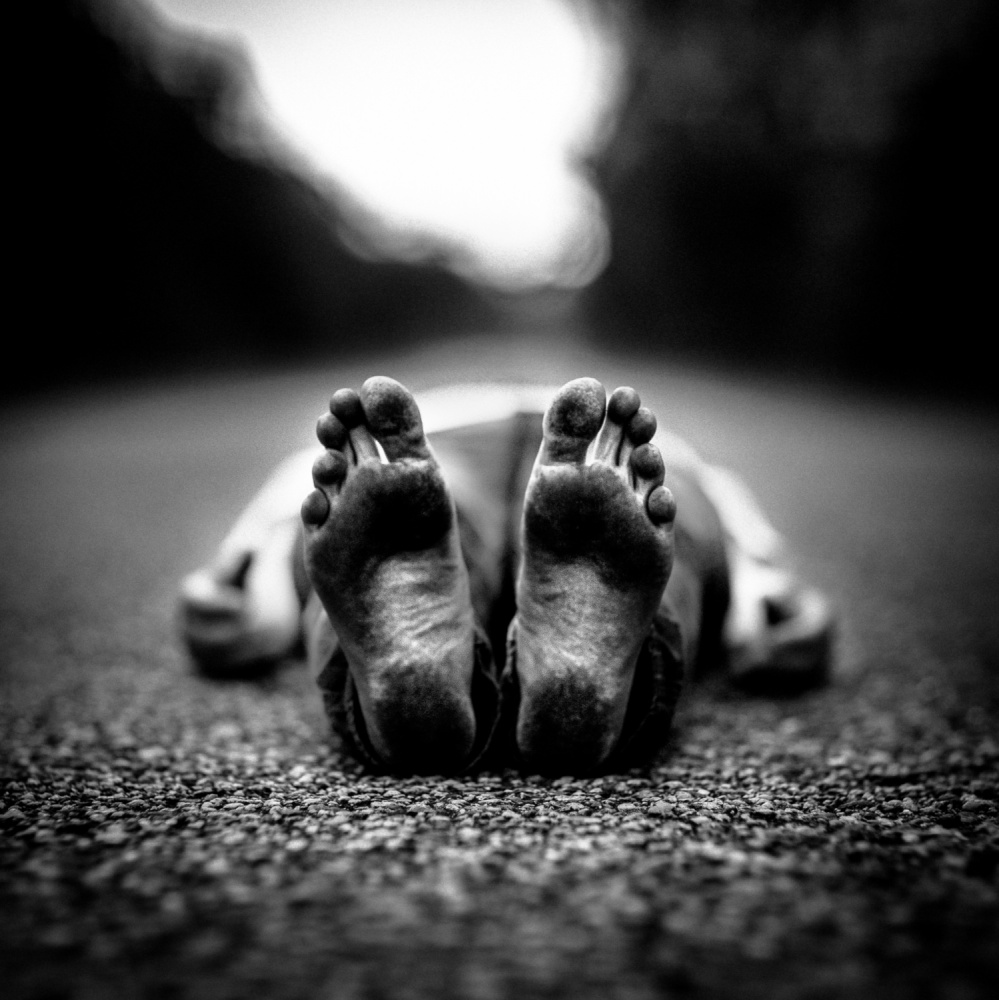 A piece of fine art art photography titled La Route by benoit courti
