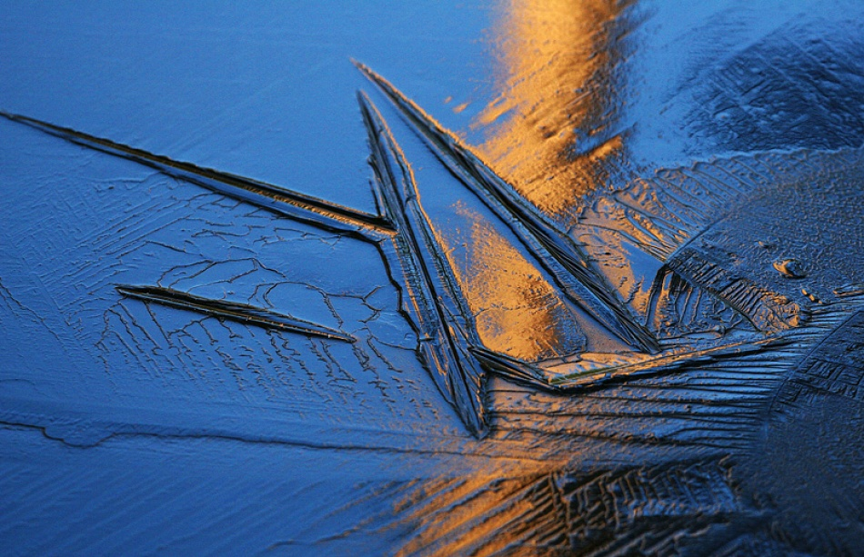 A piece of fine art art photography titled First Ice by Bror Johansson