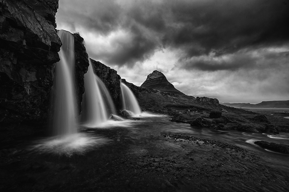 A piece of fine art art photography titled Kirkjufell by Ray Gruchy