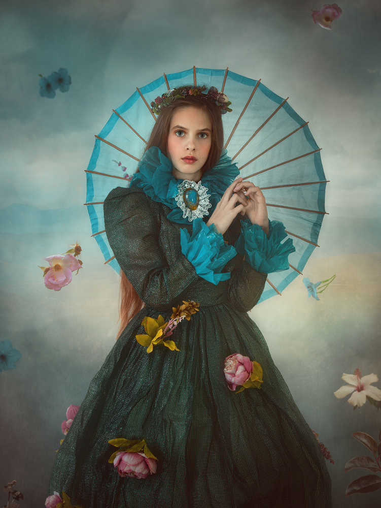 A piece of fine art art photography titled Flower Rain by Svetlana Melik-Nubarova