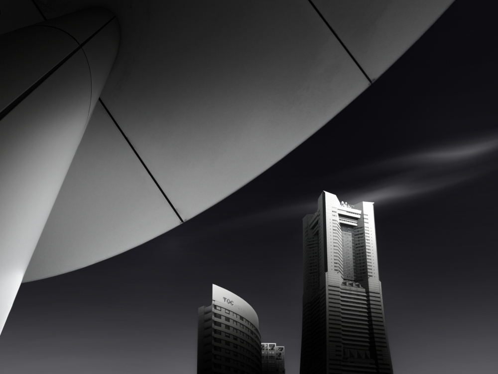 A piece of fine art art photography titled The Portal for Urban District by Dr. Akira TAKAUE