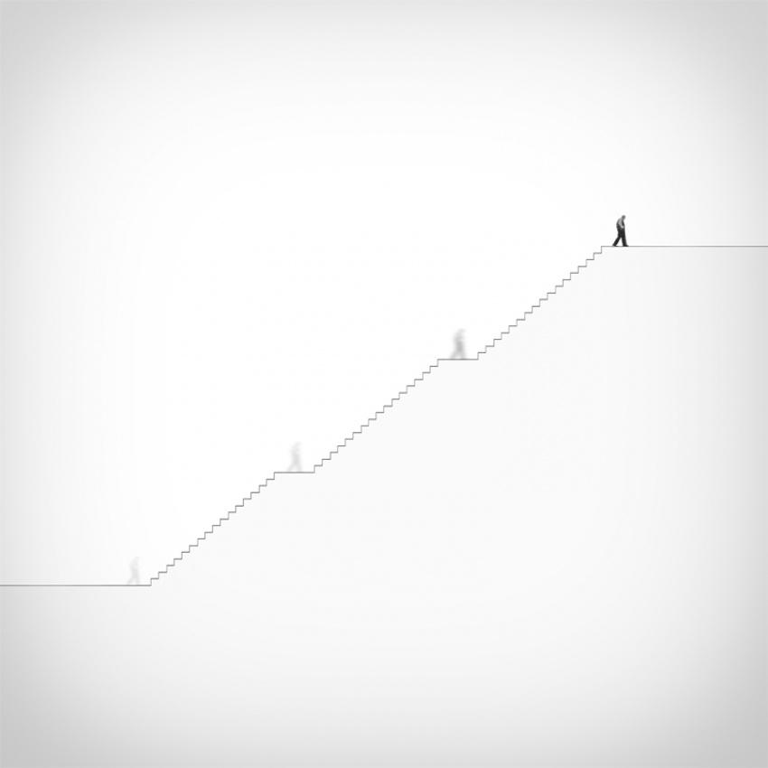 A piece of fine art art photography titled Steps by Hossein Zare