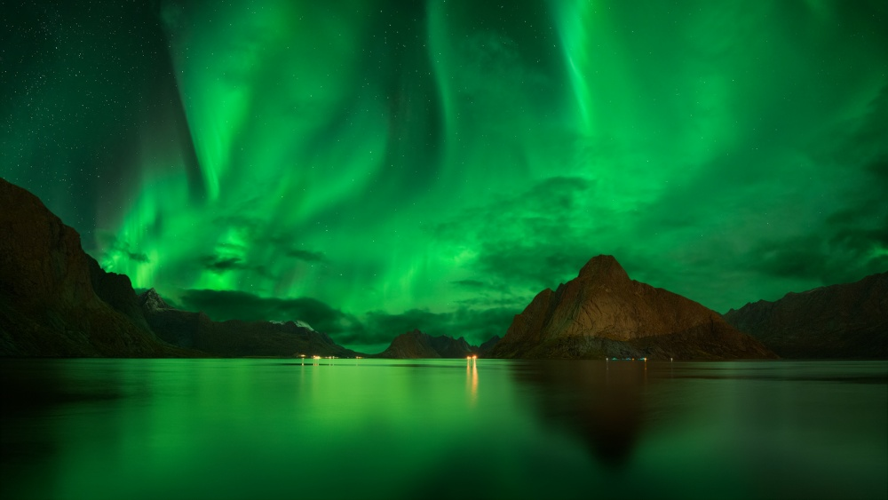 A piece of fine art art photography titled Emerald Ballet by Pawel Kucharski