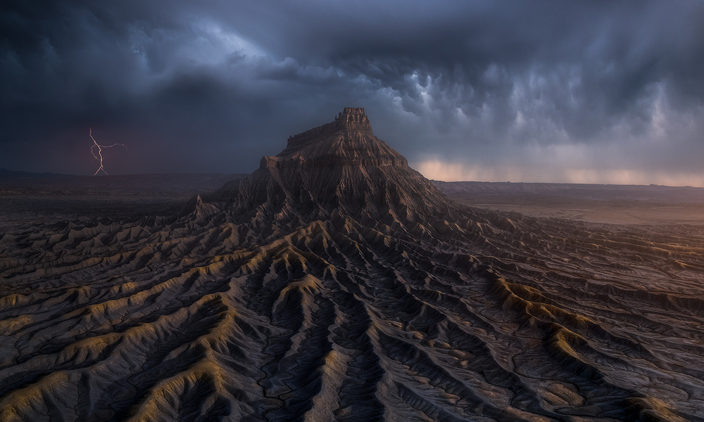 A piece of fine art art photography titled Fortress of Erosion by Ryan Dyar