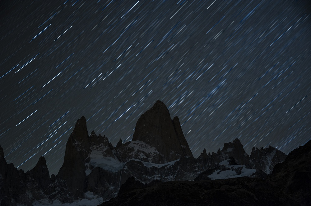 Star trail in Patagonia