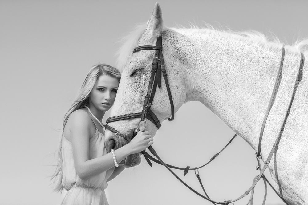 A piece of fine art art photography titled My Horse by Igor N.