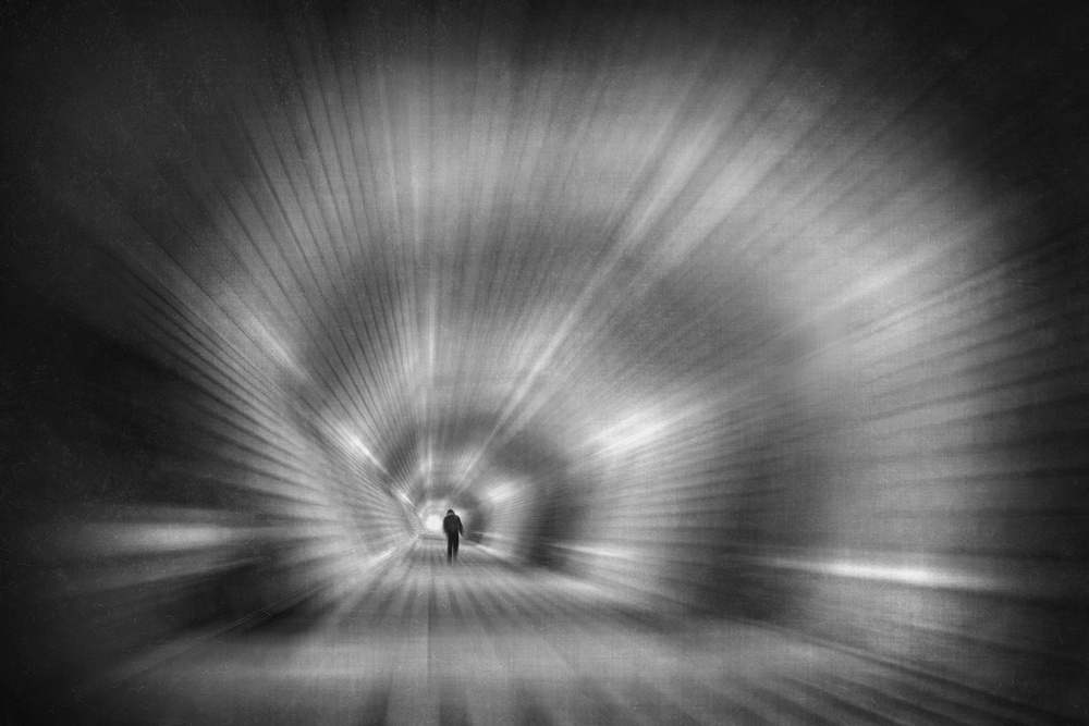 A piece of fine art art photography titled In the Tunnel of the Spiral by Ekkachai Khemkum