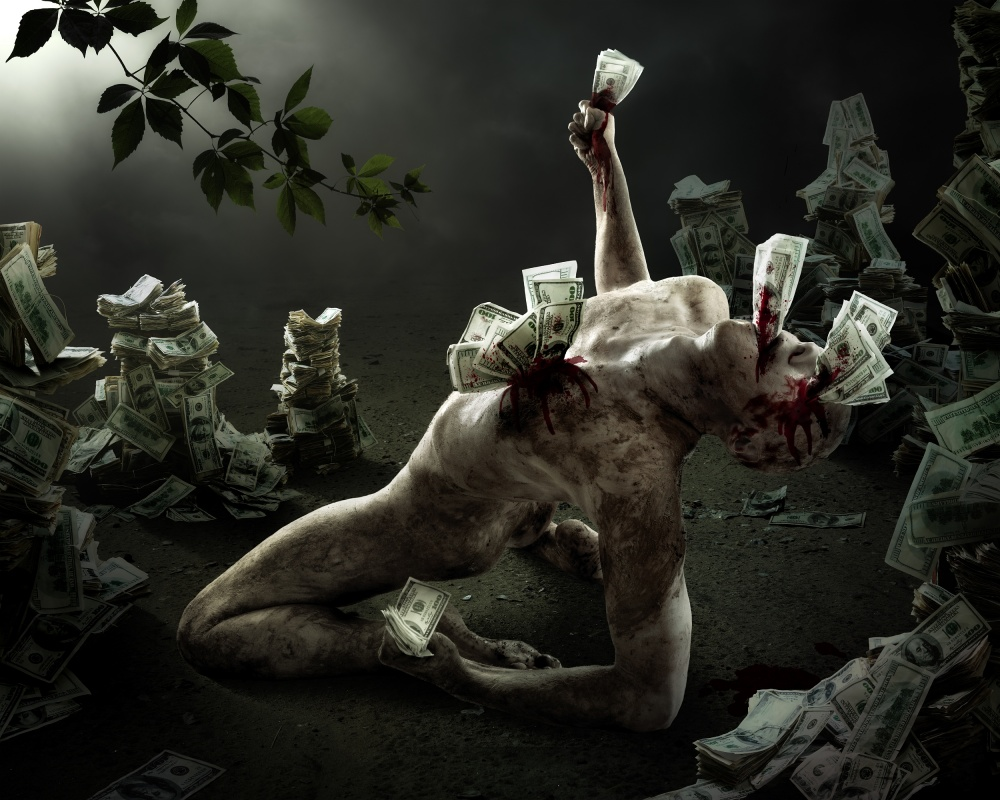 A piece of fine art art photography titled Greed by Christophe Kiciak