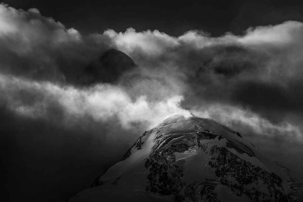 A piece of fine art art photography titled Monte Rosa Severe Winds by Peter Svoboda, MQEP