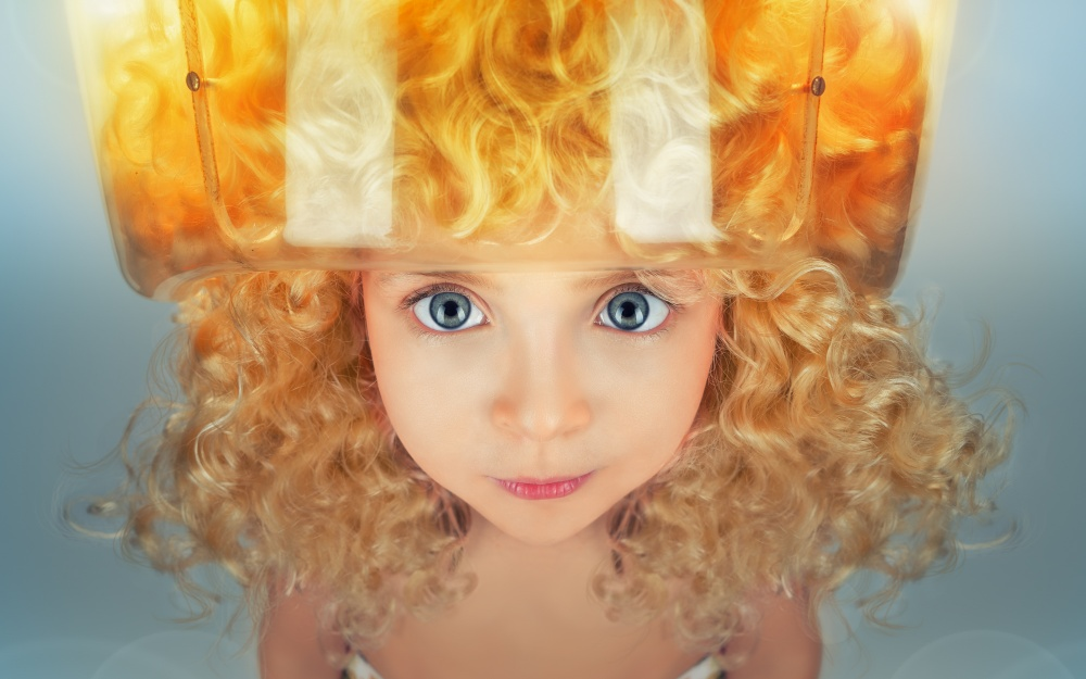 A piece of fine art art photography titled Goldilocks and Mother Bear's Hairdryer by John Wilhelm