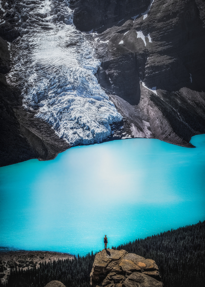 A piece of fine art art photography titled Berg Lake by Timo Heinz