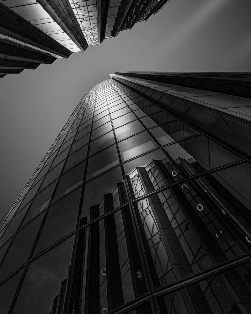 A piece of fine art art photography titled Modern Buildings by Nader El Assy