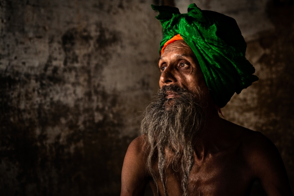 A piece of fine art art photography titled The Lonely Wise-man by Mitchell Kanashkevich