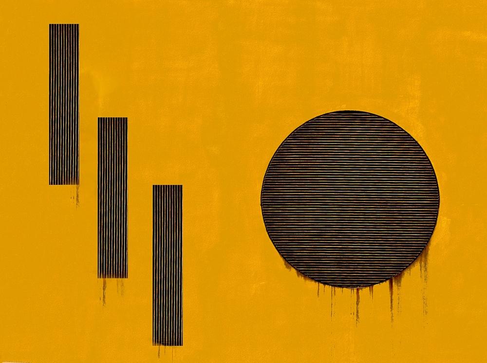 A piece of fine art art photography titled Orange 1110 by Harry Verschelden