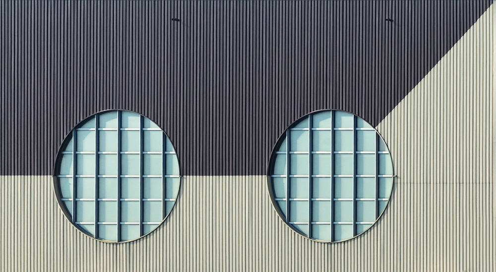 A piece of fine art art photography titled Two Eyes by Jef Van den Houte