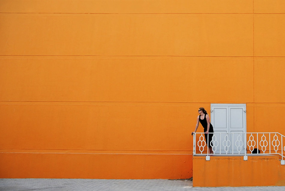 A piece of fine art art photography titled Orange View by Marcus Bj [ Ö ] rkman