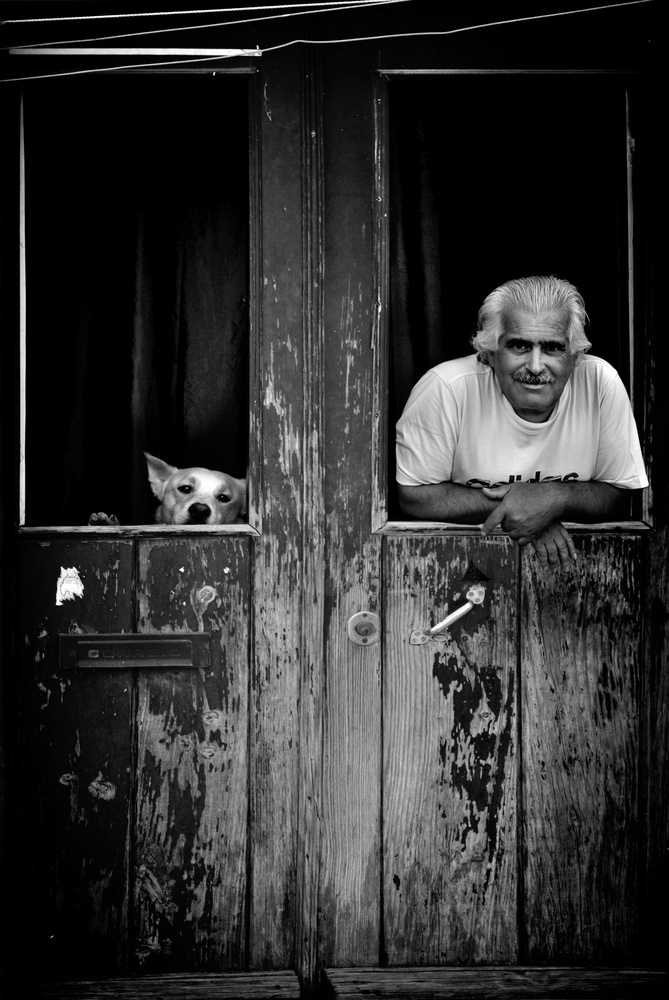 A piece of fine art art photography titled Two Friends by Vladimir Konkin