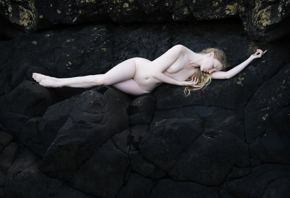 A piece of fine art art photography titled Ebony & Ivory by Ross Oscar