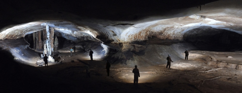 A piece of fine art art photography titled Caving Ghosts by Christian Roustan (Kikroune)