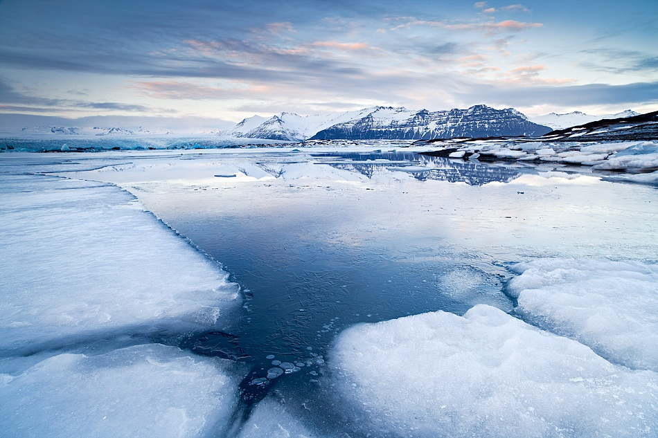 A piece of fine art art photography titled Winter Time In Jokulsarlon by Vincenzo Mazza
