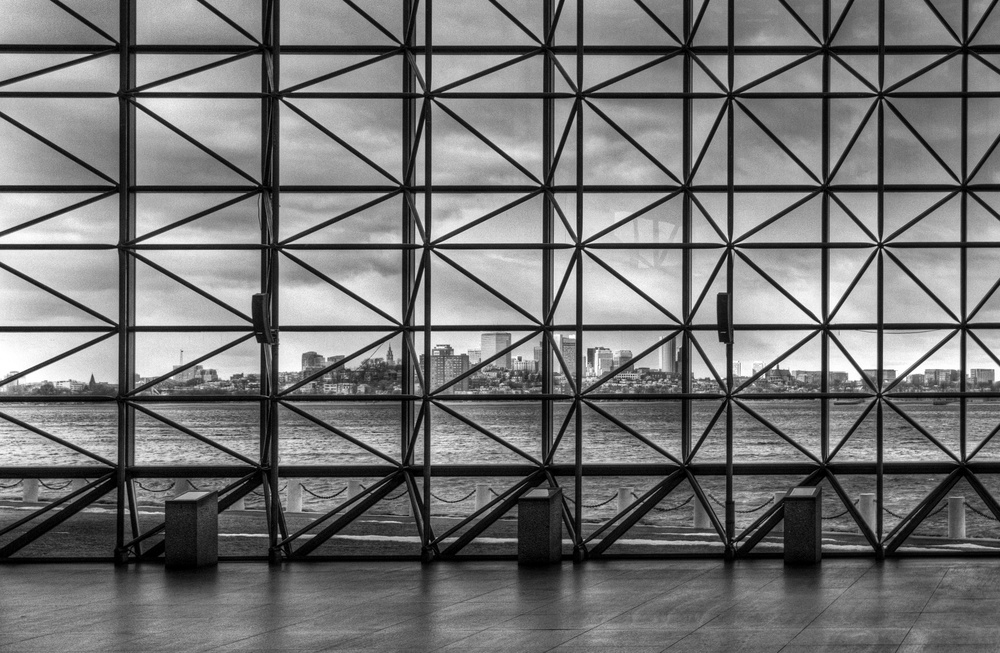 Boston Skyline from JFK Library