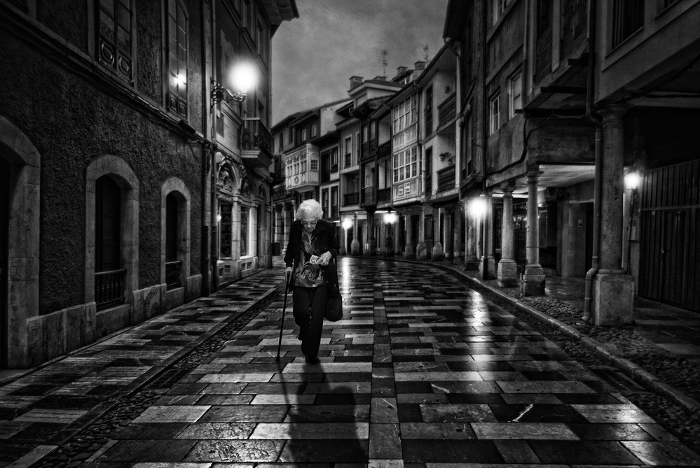 A sad and lonely walk