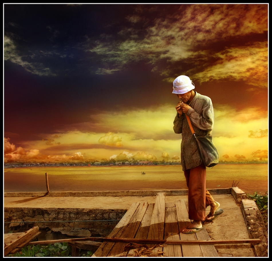 A piece of fine art art photography titled My Journey by Randy Rakhmadany
