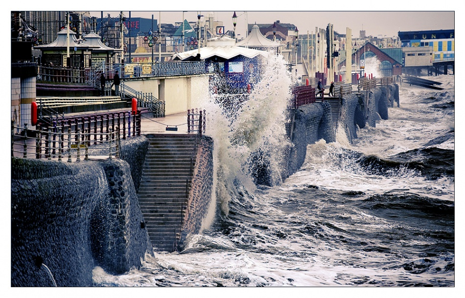 A piece of fine art art photography titled Seaside Town by Tim Johnstone